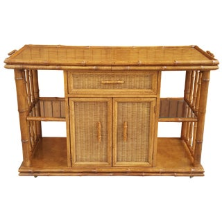 American of Martinsville Faux Bamboo Server