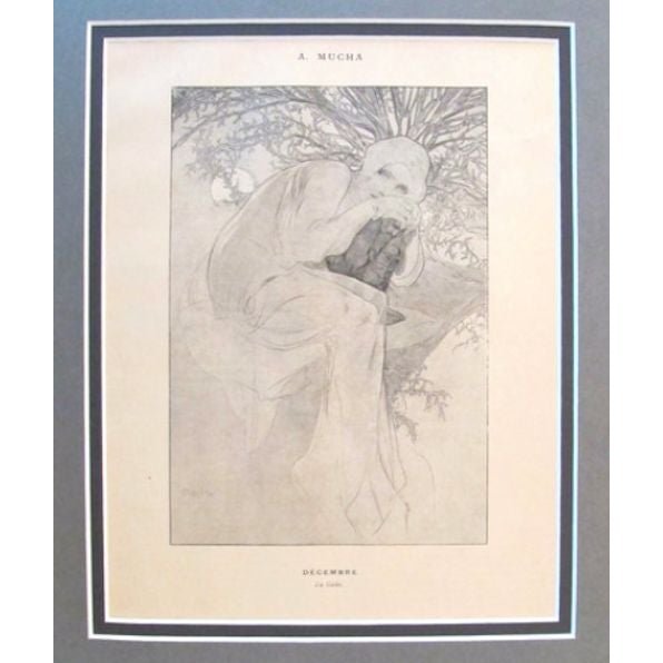 Image of 1899 Original Mucha Cocorico Illustration Dec.