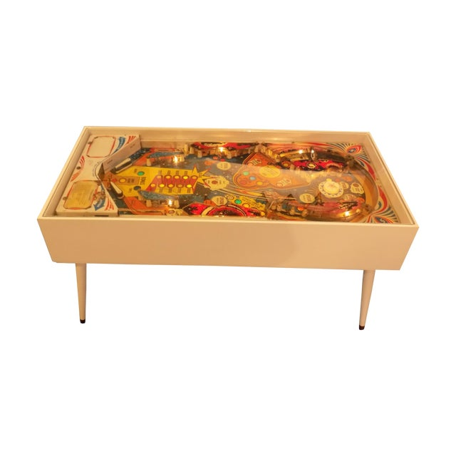 Mid-Century Style Lighted Pinball Coffee Table - Image 1 of 5