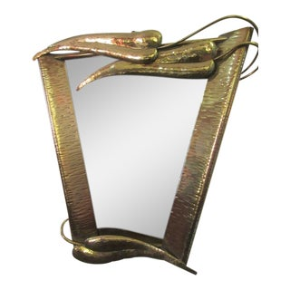 Brass Mirror in the Style of Wiener Werkstatte