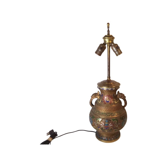 Japanese Champleve Lamp - Image 6 of 6