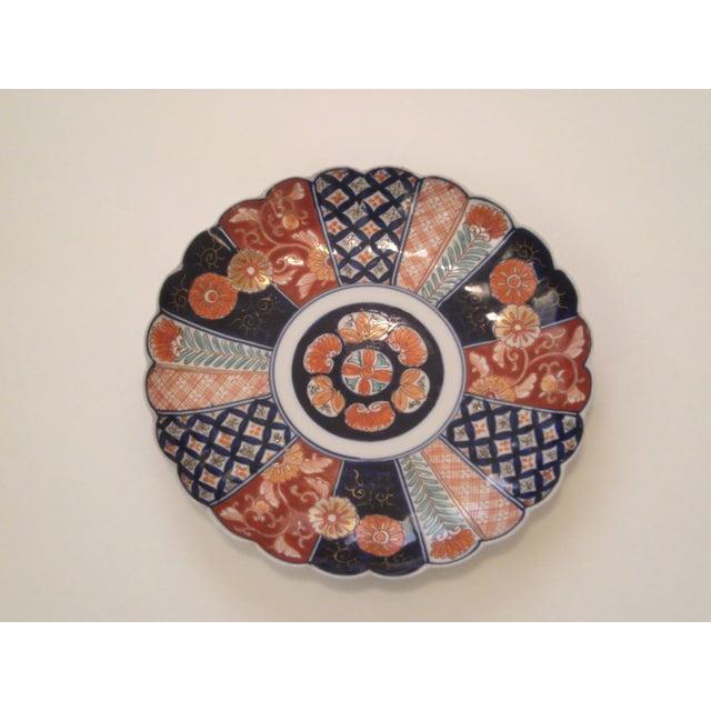 """Image of 9"""" Hand Painted Imari Plate Circa"""