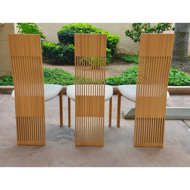 Costantini Maple Slatted Dining Chairs - Set of 6 - Image 5 of 10
