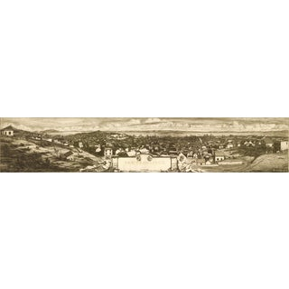 1856 Print of Panoramic Sketch, San Francisco