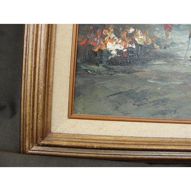 Mid-Century Paris Oil Painting by Burnett - Image 6 of 7