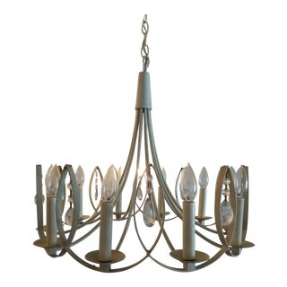 Mid-Century 10 Light Swag Chandelier