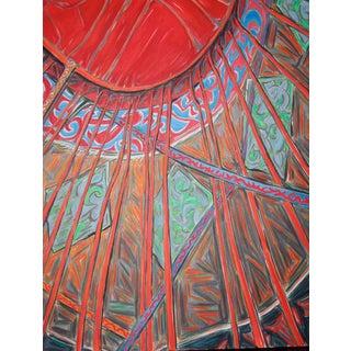 """Xinjiang Yurt"" Abstract Interior by Trixie Pitts"