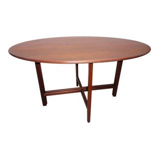 Koefoeds Hornslet Danish Modern Solid Teak Oval Dining Table