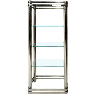 Pace Collection Chrome and Glass Etagere