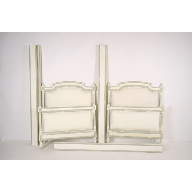 1800s French Louis XVI Extra Twin Beds - Pair - Image 8 of 8