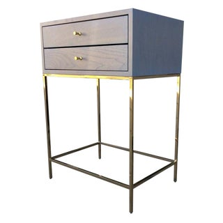 Brass & Walnut Empiric Vesper Nightstand