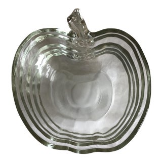 Vintage Glass Apple Bowl - Set of 5