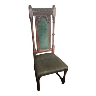 Victorian Gothic Carved Chair