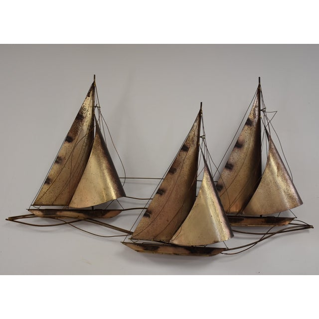 Curtis Jere Sailboat Wall Hanging Sculpture - Image 2 of 11