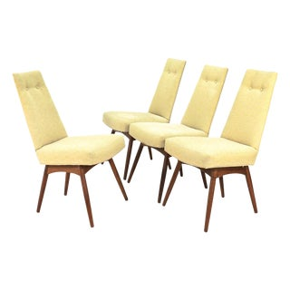 Pale Yellow Adrian Pearsall Chairs - Set of 4