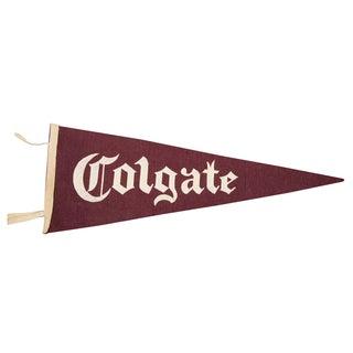 Vintage Colgate University Felt Flag
