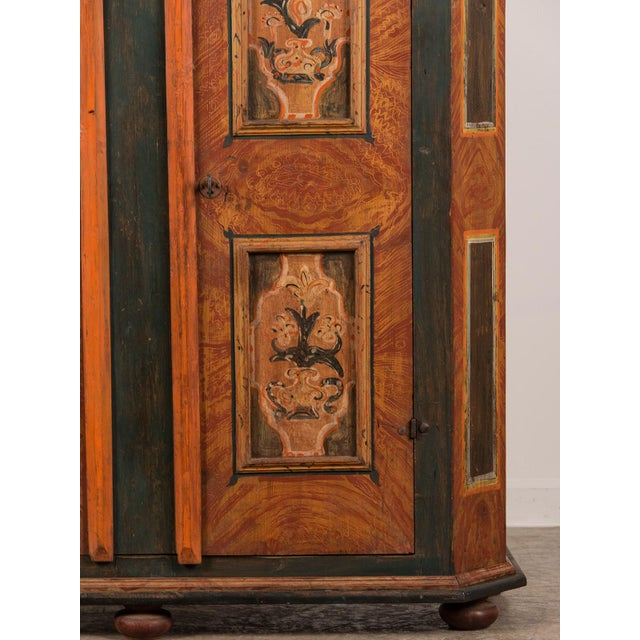 Antique German Hand Painted Dowry Cabinet, Two Doors, circa 1800 - Image 7 of 11