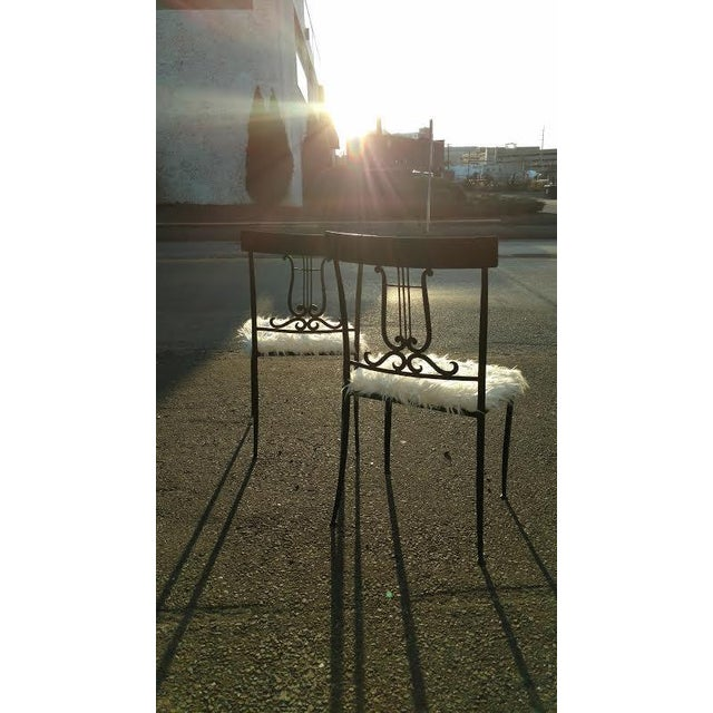 Wrought Iron Musical Chairs - A Pair - Image 6 of 6