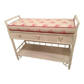 Faux Bamboo Baby Changing Table Lacquered