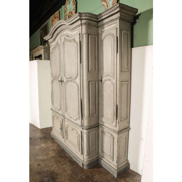 18th Century French Louis XIV Painted Buffet Deux Corps - Image 5 of 10