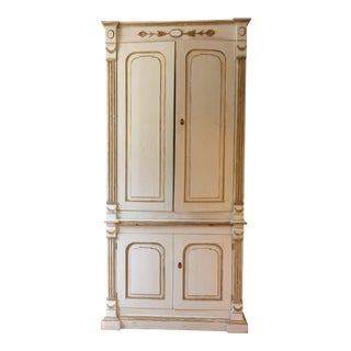 Italian Ivory Painted Cabinet