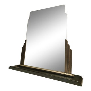 1933 Norman Bel Geddes Art Deco Modern Skyscraper Table Mirror