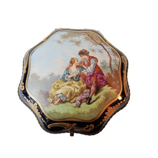 19th-C French Porcelain Dresser Box