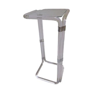 Hollywood Regency Tall Lucite Table