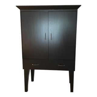 Contemporary Ebonized Wood Cupboard