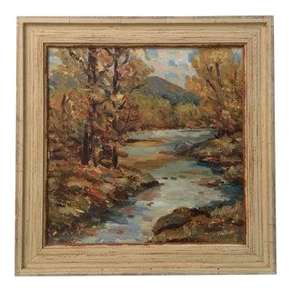 Landscape Oil With Autumn Colors