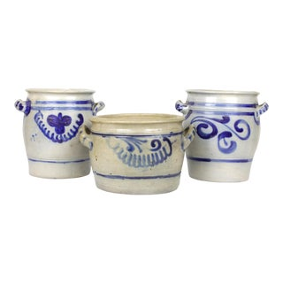 German Salt Glaze Pottery Planter - 3