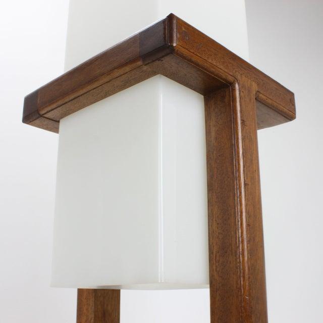 Mid-Century Large Scale Walnut & Acrylic Lamp - Image 5 of 7