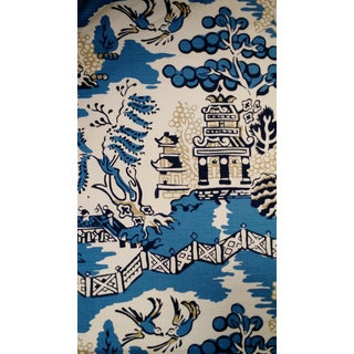 Thibaut Luzon Blue East Asian Fabric - 4 Yards