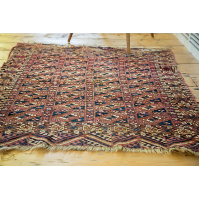 "Antique Turkmen Square Rug - 2'8"" X 3'1"" - Image 6 of 9"