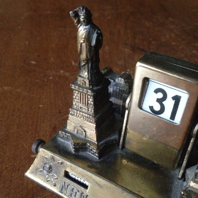 Vintage Brass Nyc Perpetual Desk Calendar - Image 7 of 11