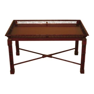 John Widdicomb Mario Buatta Chinoiserie Decorated Coffee Table
