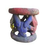 Image of Beaded African Bamileke Art Tribal Stool