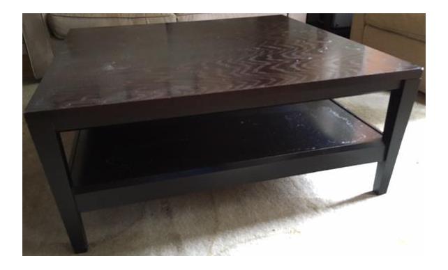 Room U0026 Board Square Dark Wood Coffee Table
