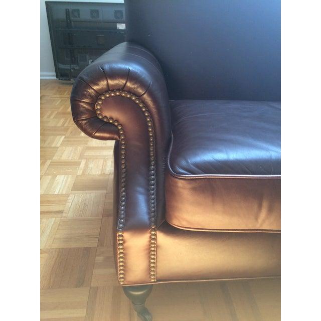 Pottery Barn Brooklyn Leather Sofa - Image 4 of 7