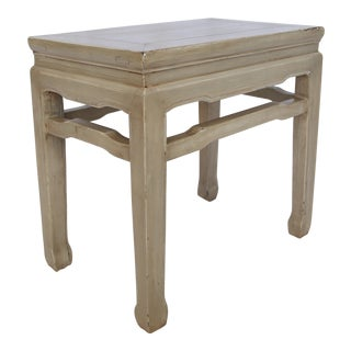 Gray Refinished Asian Side Table