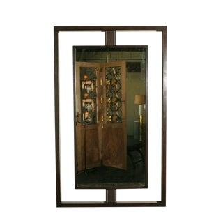 Customizable Paul Marra Negative Space Mirror with Matched Inner Frame