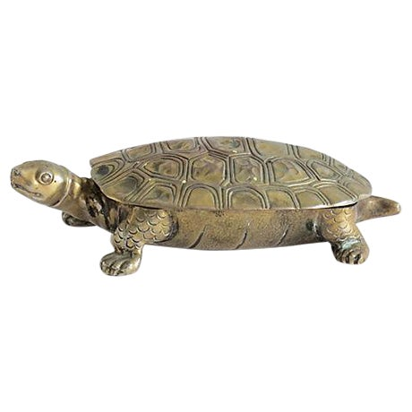 Silverplated Turtle Box - Image 1 of 5