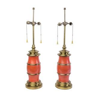 Stiffel Mid-Century Modernist Lamps - Pair