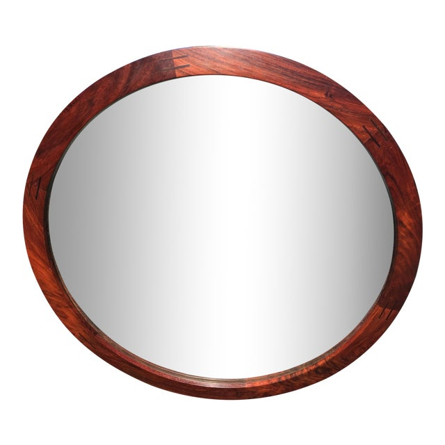 Aksel Kjersgaard for Odder Round Rosewood Mirror - Image 1 of 8