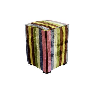 Candy-Colored Pouf Ottoman
