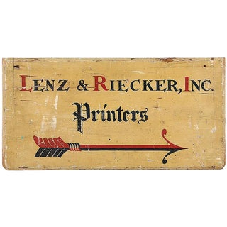 C. 1900Printer's Sign From Long Island NY