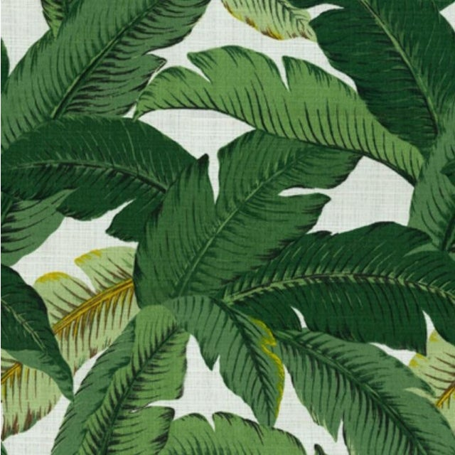 Image of Contemporary Leaf Print Pillows - A Pair