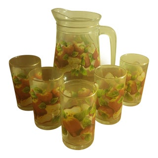 KIG Indonesia Glass Pitcher & Juice Tumblers - Set of 6