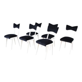 Set of Six (6) Ico Parisi Bow-Tie Dining Chairs