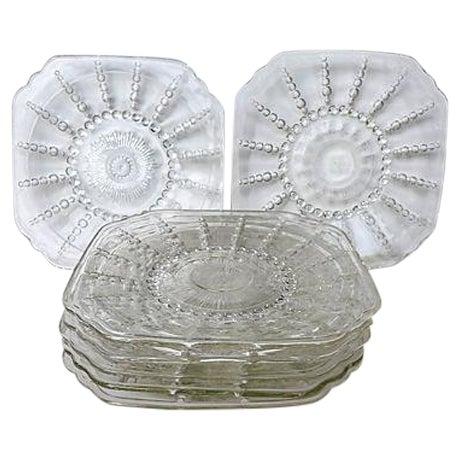 Vintage Pressed Glass Dessert Plates - Set of 7 - Image 1 of 5
